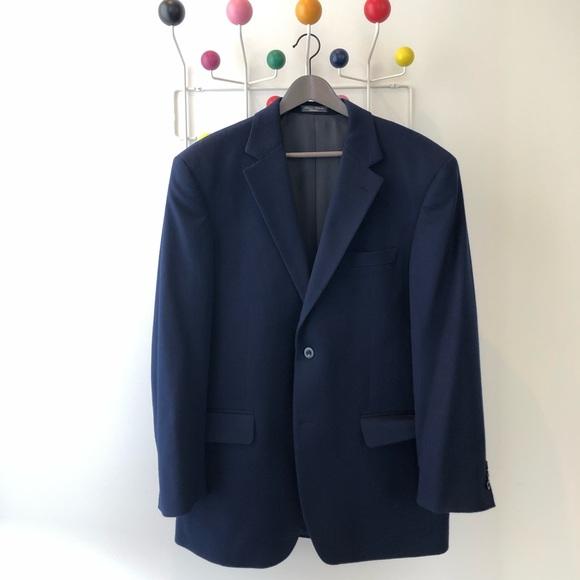 Other - 100% cashmere navy sport jacket